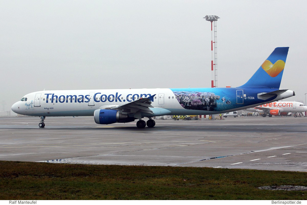 Sxf >> Berlinspotter.de - Thomas Cook Airlines, Airbus A321-200 G-TCDA