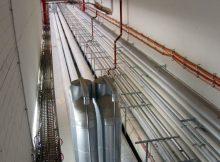 Rohrleitungen der BER-Entrauchungsanlage (© O. Pritzkow)
