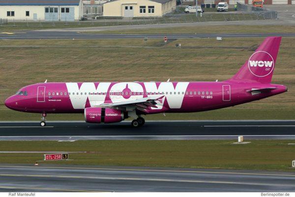 WOW Air Airbus A320-200 TF-BRO (© R. Manteufel)