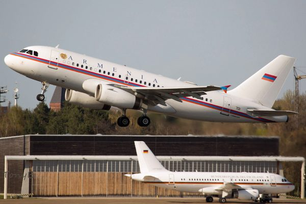Armenia Gvmt. Airbus A319 Corporate Jet '701'