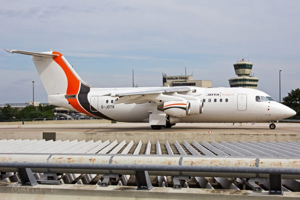 Jota Aviation Avro RJ85 G-JOTR