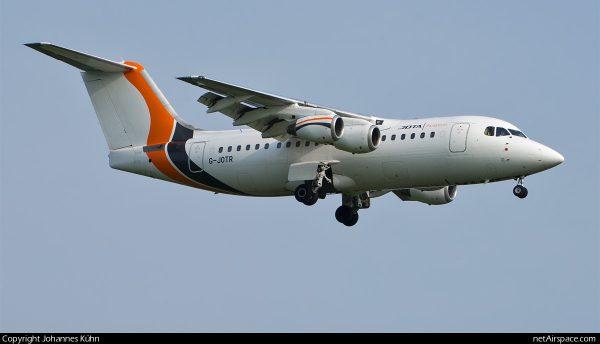 Jota Aviation Avro RJ85 G-JOTR (SXF 12.6.2019)