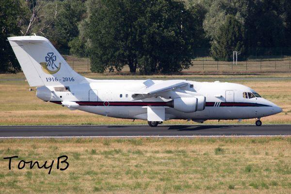 Royal Air Force, Queens Flight BAe 146-100 ZE700 (Berlin TXL 20.7. 2016)