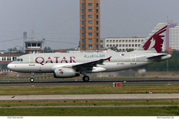 Qatar Amiri Flight Airbus A319CJ A7-HHJ (SXF 20.8. 2016)