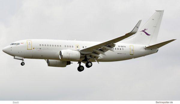 Deer Jet Boeing 737-700(BBJ) B-5273 (Berlin SXF 2.8. 2016)