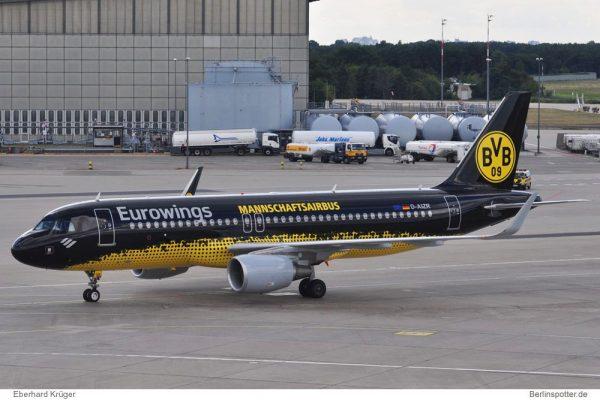 Eurowings Airbus A320-200 D-AIZR (Berlin TXL 1.8. 2016)