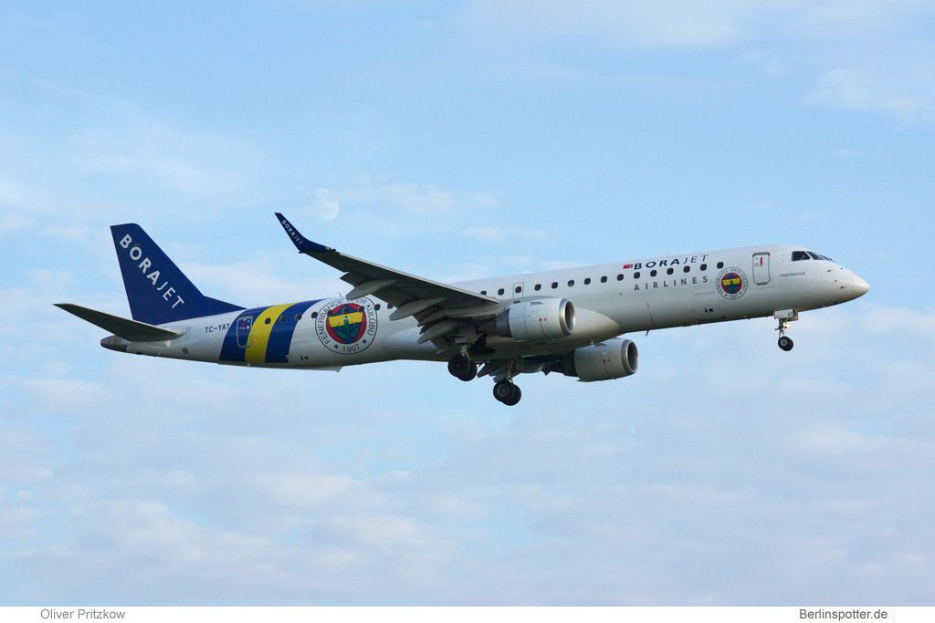 Borajet Embraer 195 TC-YAT (Berlin TXL 13.8. 2016)