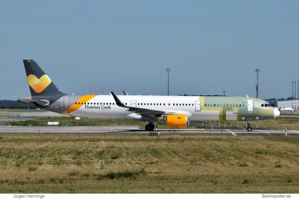 Condor Airbus A321-200SL D-AIAF (SXF 31.8. 2016)