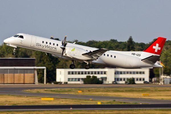 SkyWork Airlines Saab 2000 HB-IZD (TXL 09/2016)