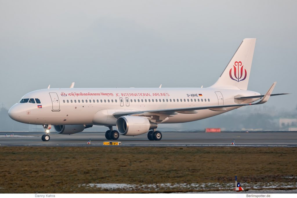 JC International Airlines, Airbus A320-200 D-ABHE (SXF 22.1. 2017)