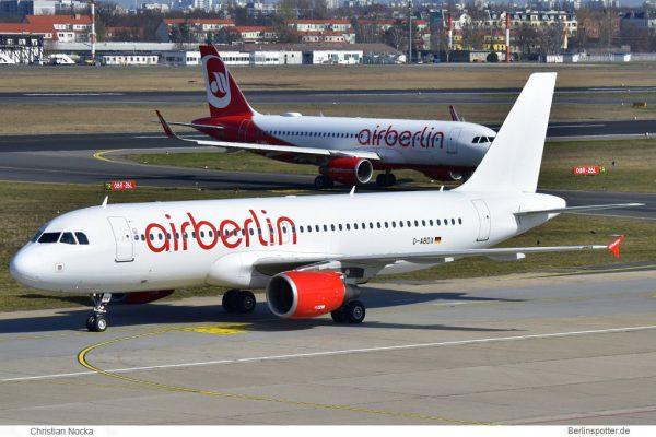 Air Berlin, Airbus A320-200 D-ABDX (TXL 26.3. 2017)