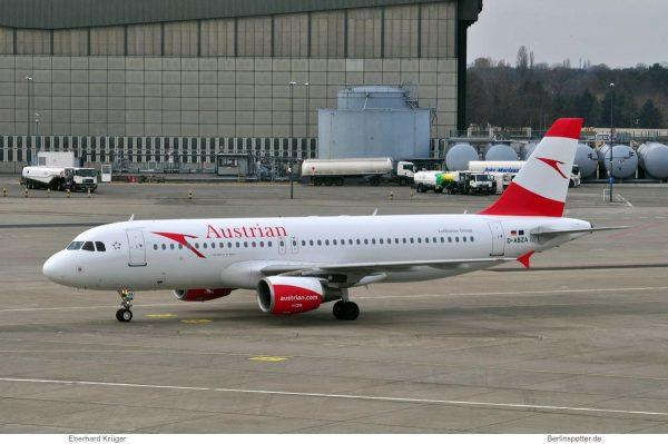 Austrian Airlines, Airbus A320-200 D-ABZA (TXL 11.3. 2017)