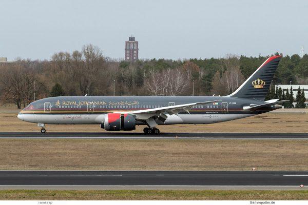 Royal Jordanian, Boeing 787-8 JY-BAB (TXL 16.3. 2017)