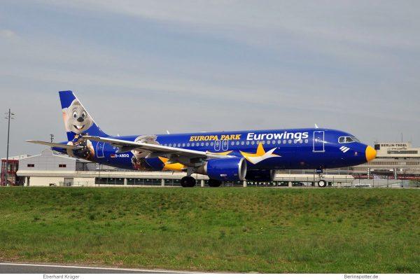 Eurowings, Airbus A320-200 D-ABDQ (TXL 10.4. 2017)