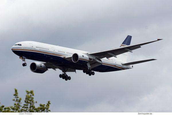 Privilege Style, Boeing 777-200ER EC-MIA (TXL 14.4. 2017)