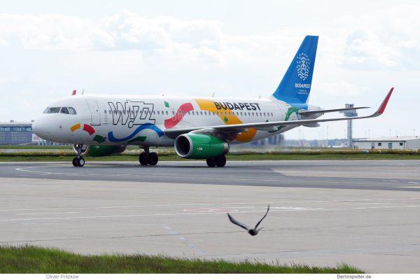 Wizz Air, Airbus A320-200 HA-LYG, Budapest Olympia 2024-Bewerbung (SXF 29.4. 2017)