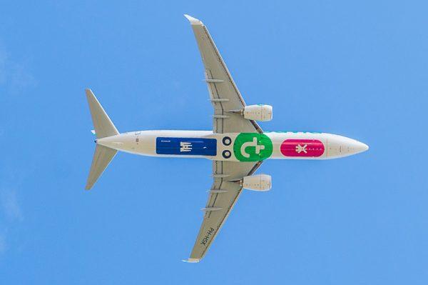 Flugzeug der Transavia mal von unten (© Transavia)