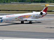 Air Nostrum - Iberia Regional, Bombardier CRJ1000 EC-LJS (SXF 21.6. 2017)