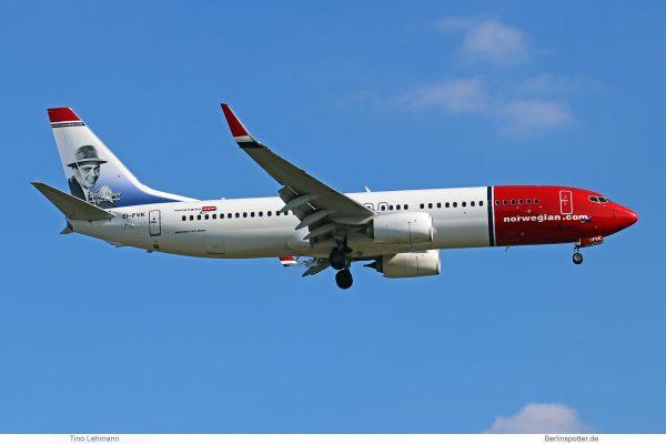 Norwegian Air International, Boeing 737-800(WL) EI-FVK, Dirch Passer im Tail (SXF 18.6. 2017)