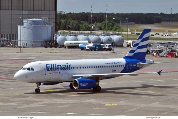 Ellinair, Airbus A319-100 SX-EMB (TXL 7.6. 2017)