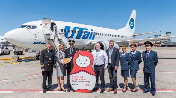 Die russische Fluggesellschaft UTair verbindet ab sofort täglich Berlin-Tegel mit dem Flughafen Moskau-Wnukowo. (Foto: G. Wicker/FBB)