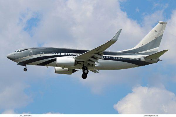 Wuleen Investment Corp., Boeing 737-700(BBJ) VP-CZW (SXF 31.5. 2017)