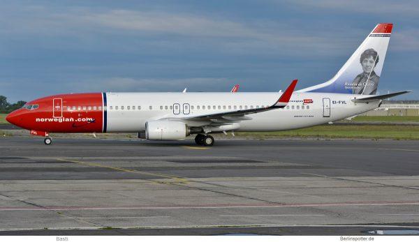Norwegian Air International, Boeing 737-800(WL) EI-FVL, Rosalia de Castro im Tail (SXF 25.6. 2017)