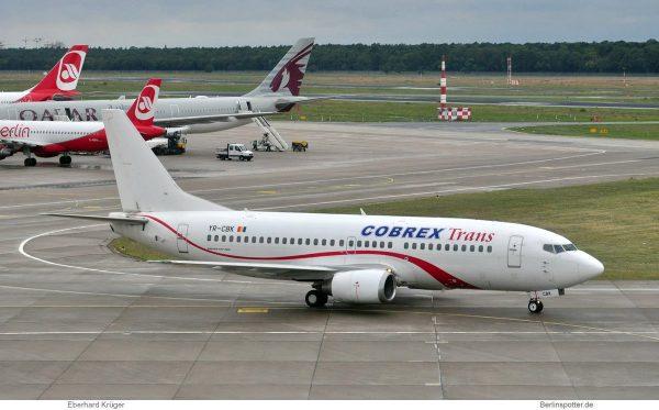 Cobrex Trans, Boeing 737-300 YR-CBK (TXL 1.7. 2017)