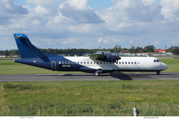 Nordica, ATR72-500 ES-ATA, basic InterSky cs. (TXL 27.8. 2017)