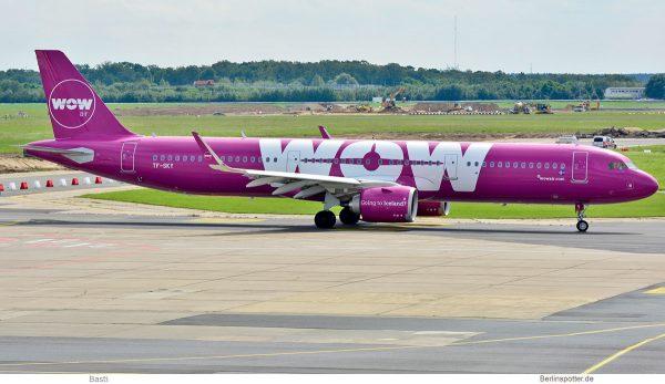 WOW Air, Airbus A321neo TF-SKY (SXF/BER 18.8. 2017)