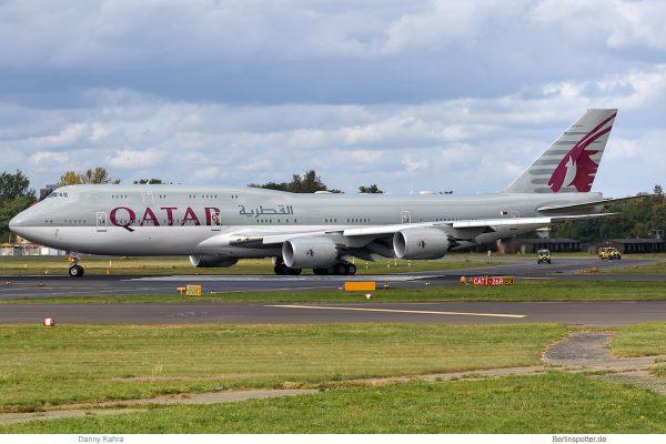 Qatar Amiri Flight, Boeing 747-8 (BBJ) A7-HHE (TXL 15.9. 2017)