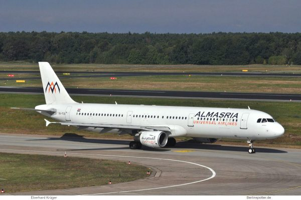 Almasria Universal Airlines, Airbus A321-200 SU-TCG (TXL 19.9. 2017)
