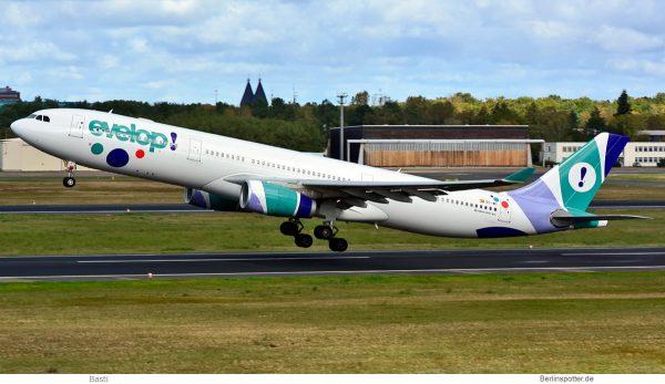 Evelop Airlines, Airbus A330-300 EC-MII (TXL 8.10. 2017)
