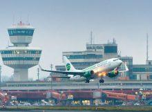 Start einer Germania-Boeing 737 vom Flughafen Tegel (© G. Wicker/FBB)