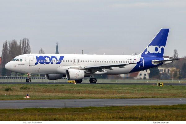 Joon Airbus A320-200 F-GKXT (TXL 2.12. 2017)