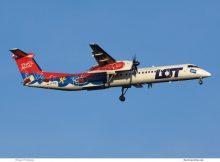 LOT Polish Airlines, Bombardier Q400 SP-EQB, Ptasie Mleczko-Bemalung (TXL 27.12. 2017)