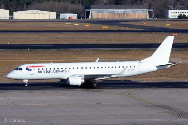 BA CityFlyer, Embraer 190SR G-LCYY (TXL 24.2. 2018)