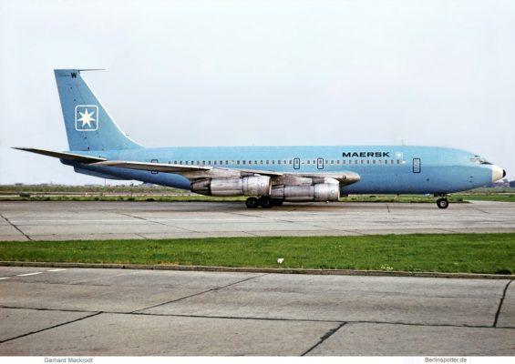 Maersk Air, Boeing 720-051B OY-APW (SXF 15.9. 1974)
