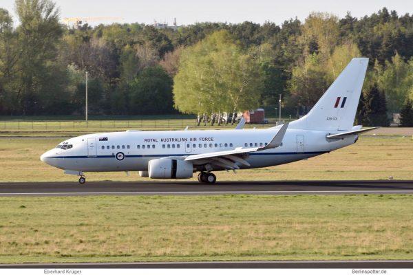 Royal Australian Air Force, Boeing 737-700(BBJ) 36-001 (TXL 21.4. 2018)