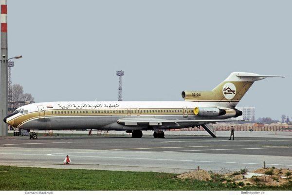Libyan Arab Airlines, Boeing 727-200 5A-DAI (SXF 23.5. 1975)