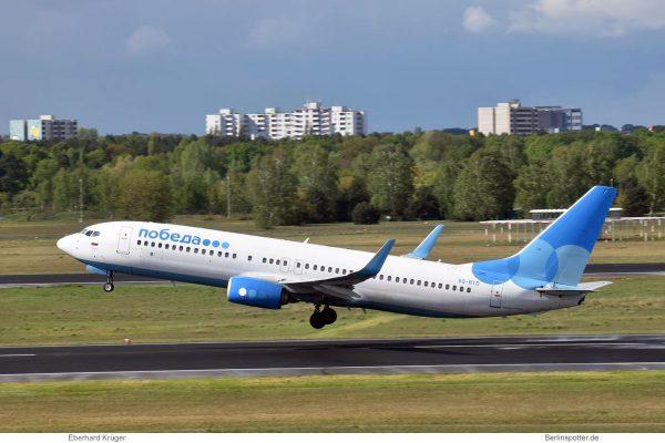 Pobeda, Boeing 737-800(WL) VQ-BTD (TXL 26.4. 2018)