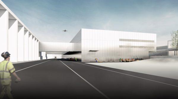 Terminal T2: Blick auf die Verbindungsbrücken vom T2 am BER (alt: T1-E) zum Pier Nord (Quelle: ATP/amd)