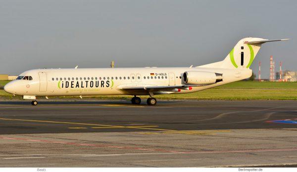 Avanti Air, Fokker 100 D-AOLG, Idealtours-Bemalung (SXF 17.5. 2018)