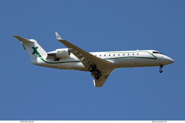 Air X Charter, Bombardier Challenger 850 9H-BOO (SXF 6.6. 2018)