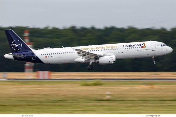 Lufthansa Airbus A321-200 D-AISQ zur Fussball-WM 2018 (TXL 16.6. 2018)