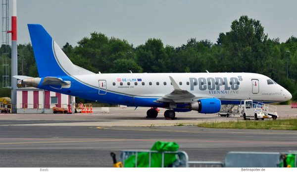 People's Viennaline, Embraer 170 (SXF 13.6. 2018)