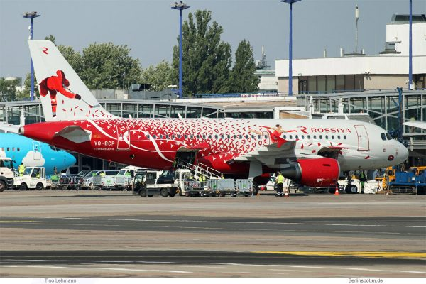 Rossiya, Airbus A319-100 VQ-BCP, Sport-Bemalung (SXF 31.5. 2018)