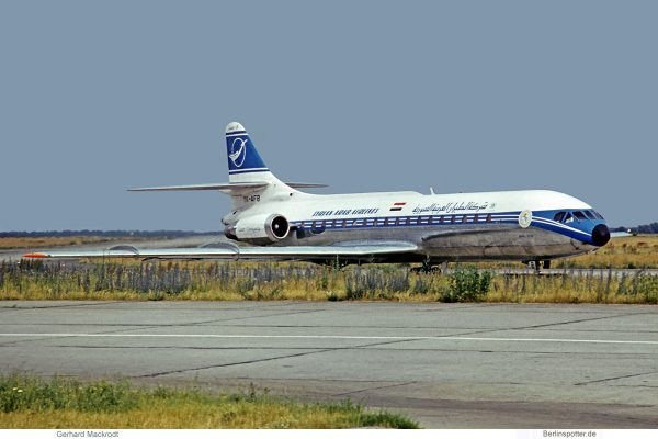 Syrian Arab Airlines, Sud Aviation SE-210-10B3 Caravelle YK-AFB (SXF 12.7. 1974)