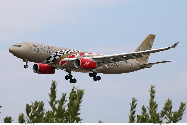 Gulf Air, Airbus A330-200 A9C-KB, Bahrain F1 Grand Prix cs. (SXF 1.8. 2018)