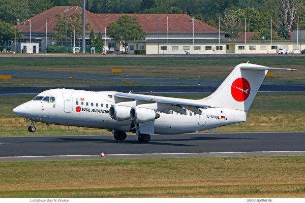 WDL Aviation, BAe 146-200 D-AMGL (TXL 12.8. 2018)